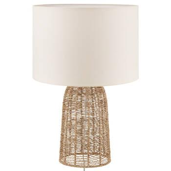 Lampe de table en corde de chanvre et lin