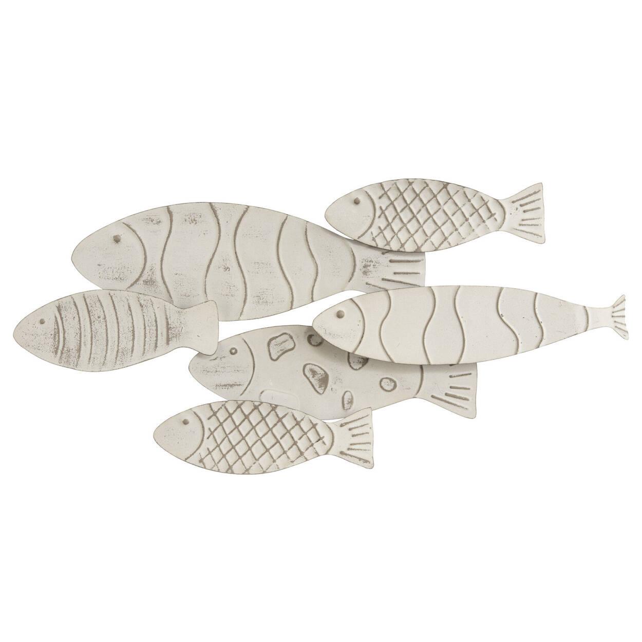 School of fish metal wall art bouclair com