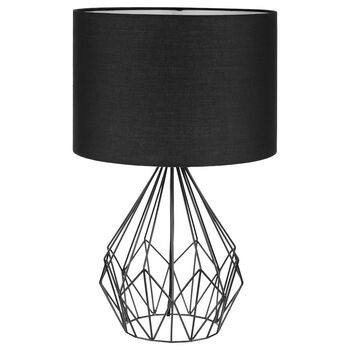 Metal wire table lamp bouclair com