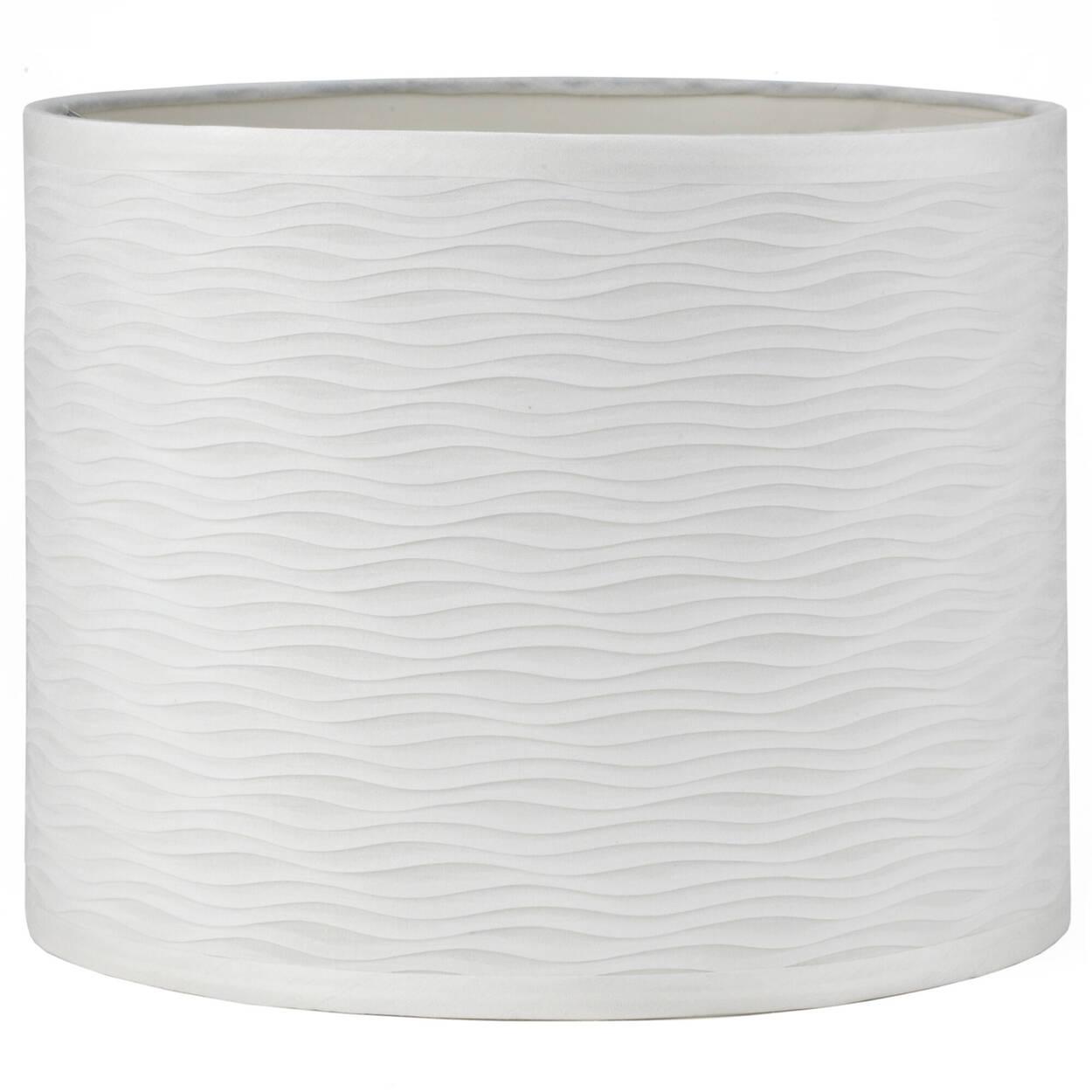 Undulated Faux Silk Lamp Shade
