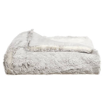 "Silver Fox Faux Fur Throw 50"" X 60"""