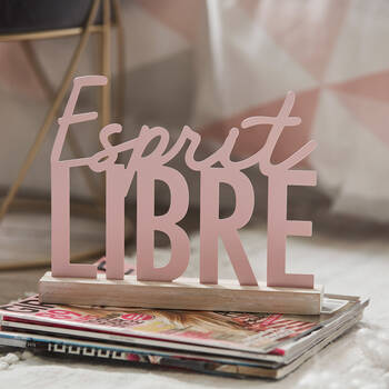 Decorative Plaque Esprit Libre