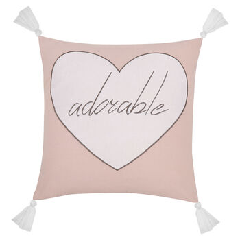 "Adorable Decorative Pillow with Tassels 18"" X 18"""