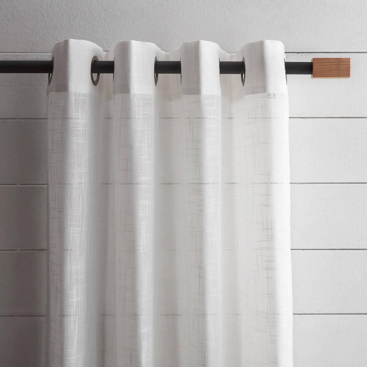 Ensemble de tringle à rideaux avec bois naturel - Diamètre 13/16 mm