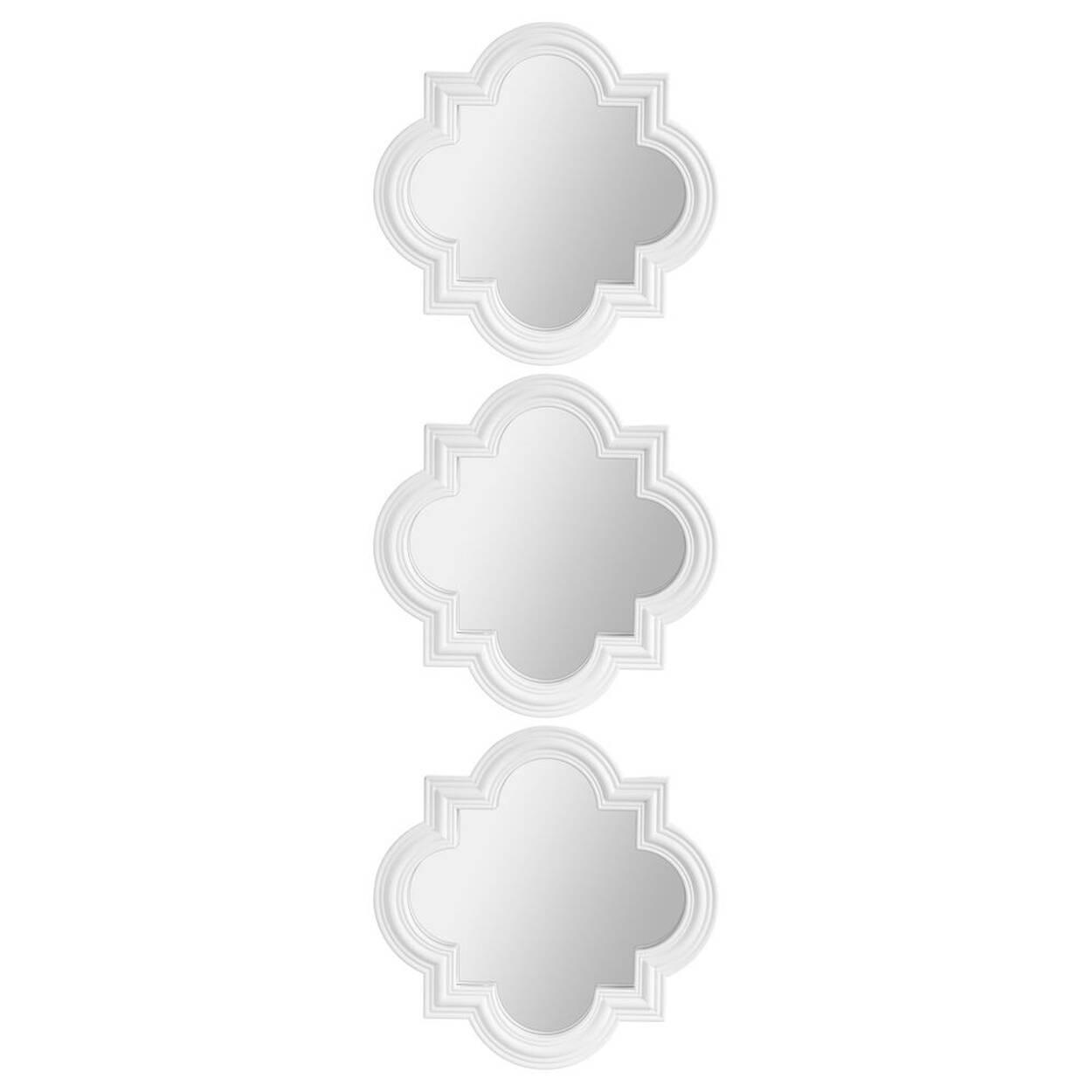 Ensemble de 3 miroirs g om triques for Miroir bouclair