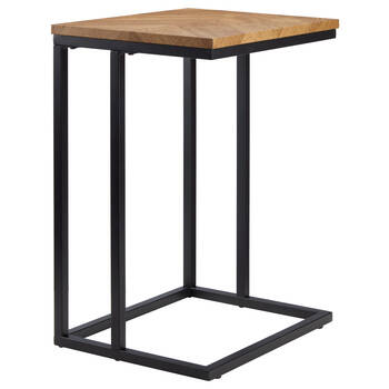 Table d'appoint en chevron et en métal