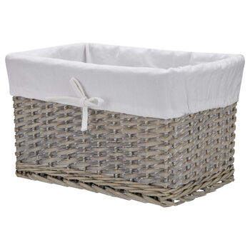 Large Wicker Basket with Lining
