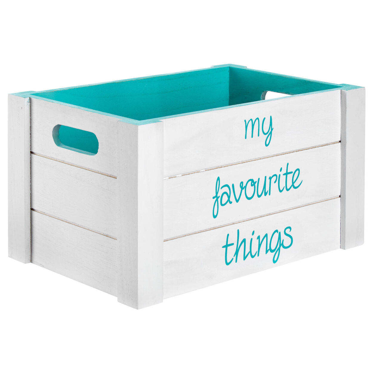 Medium Favourite Things Wooden Crate