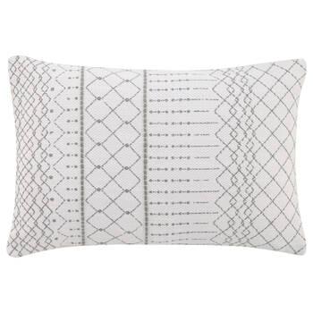 "Candis Embroidered Decorative Lumbar Pillow 14"" X 22"""
