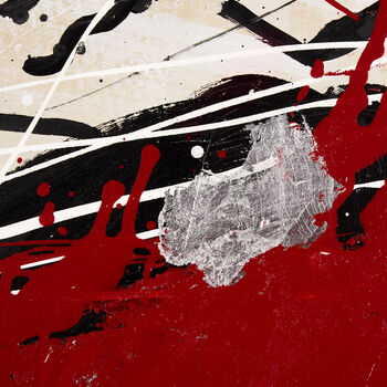 Abstract Splatter Oil Painted Canvas