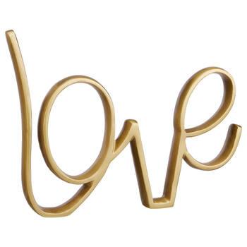 Mot décoratif métallique Love