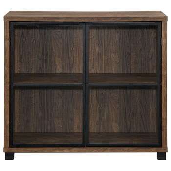 Two-Door Iron and Veneer Cabinet