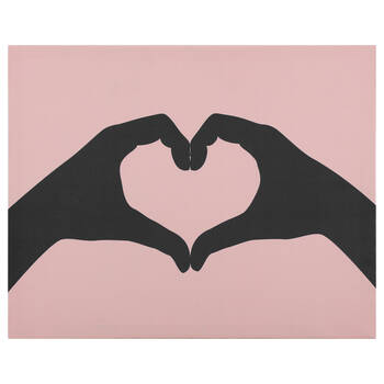 Heart-Shaped Hands Printed Canvas