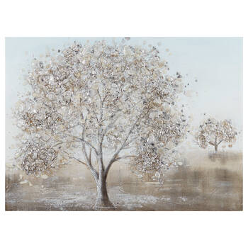 Silver Tree Painted Canvas