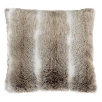 "Deer Faux Fur Decorative Pillow 20"" X 20"