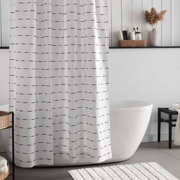 Stroka Lined Shower Curtain