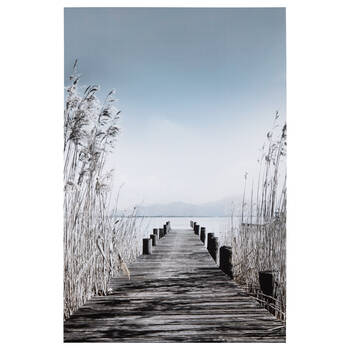 Wooden Pier Printed Canvas