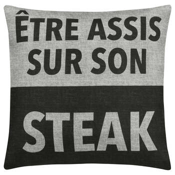 "Steak Decorative Pillow Cover 18"" X 18"""