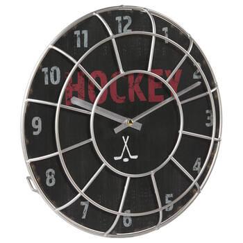 Horloge de Hockey en fil de métal