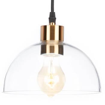 Lampe suspendue en verre et en métal
