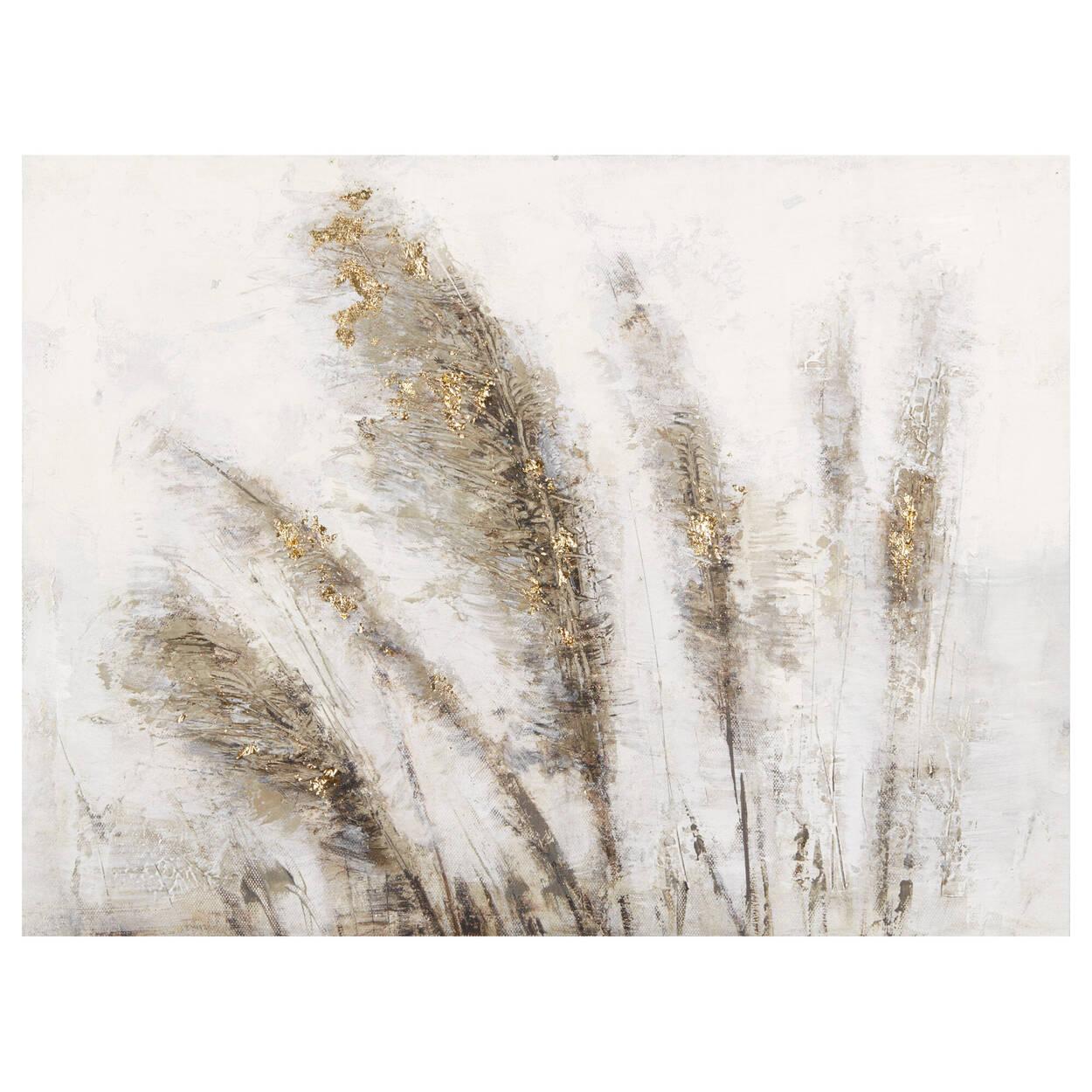 Tableau peint à l'huile champ de blé