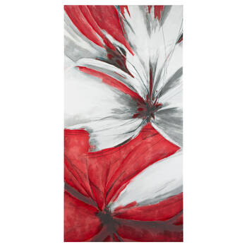 Abstract Floral Canvas with Gel Embellishments
