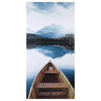 Canoe on The Lake Printed Canvas