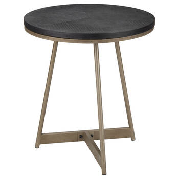 Veneer and Bronze Side Table