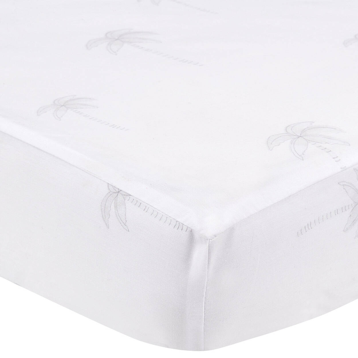 Fitted Crib Sheet with Palm Trees
