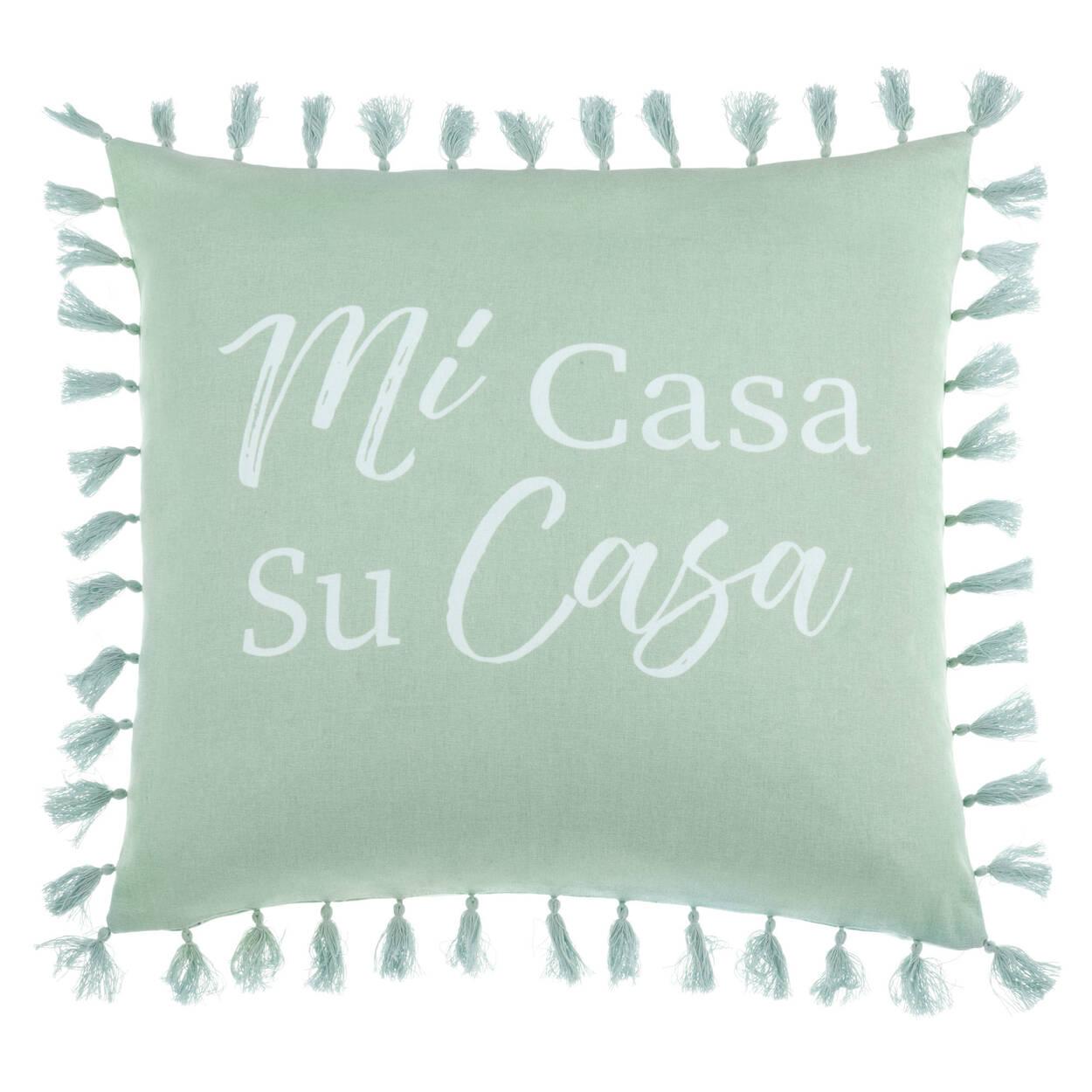 Housse de coussin décoratif avec pompons Mi Casa 18