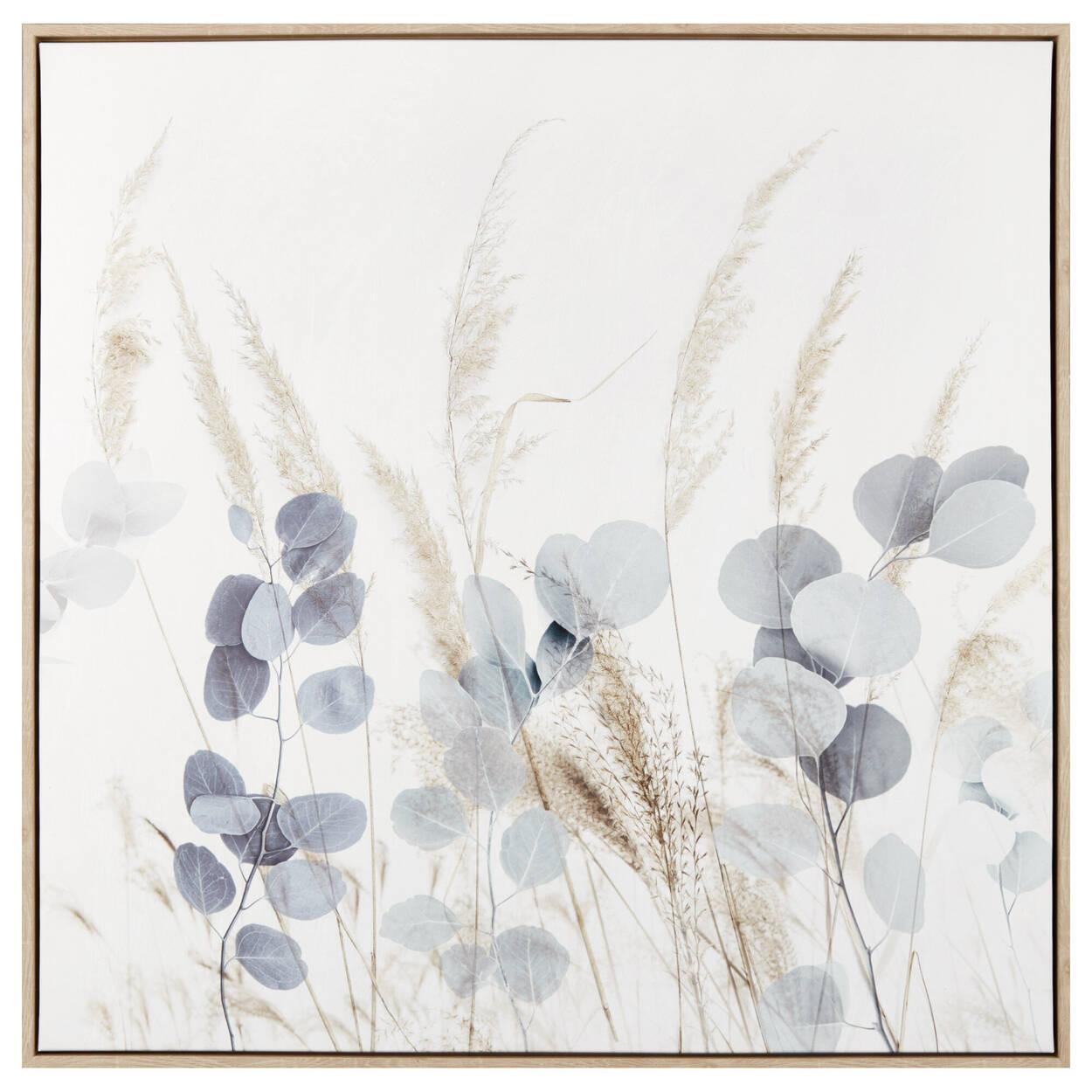 Cadre imprimé eucalyptus et fleurs des pampas