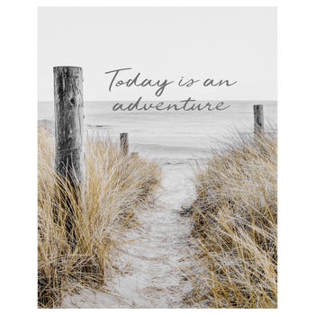 Adventure Typography Printed Canvas
