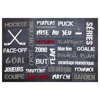Tableau typographie Hockey
