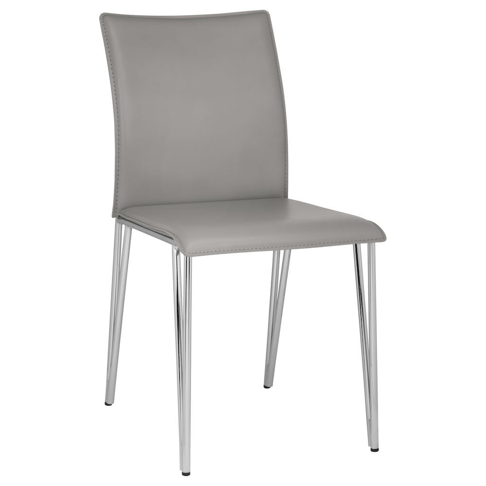 Faux Leather and Metal Dining Chair Faux