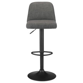 Chita Fabric and Metal Adjustable Bar Stool