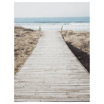 To The Beach Printed Canvas