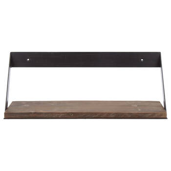 Large Wood and Metal Shelf