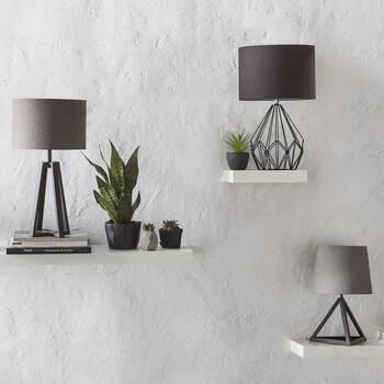 Triangular Metal Table Lamp