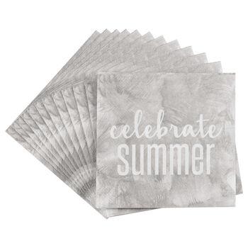 Set of 20 Celebrate Summer Table Napkins