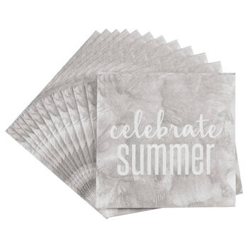 Set of 20 Celebrate Summer Table Napkins