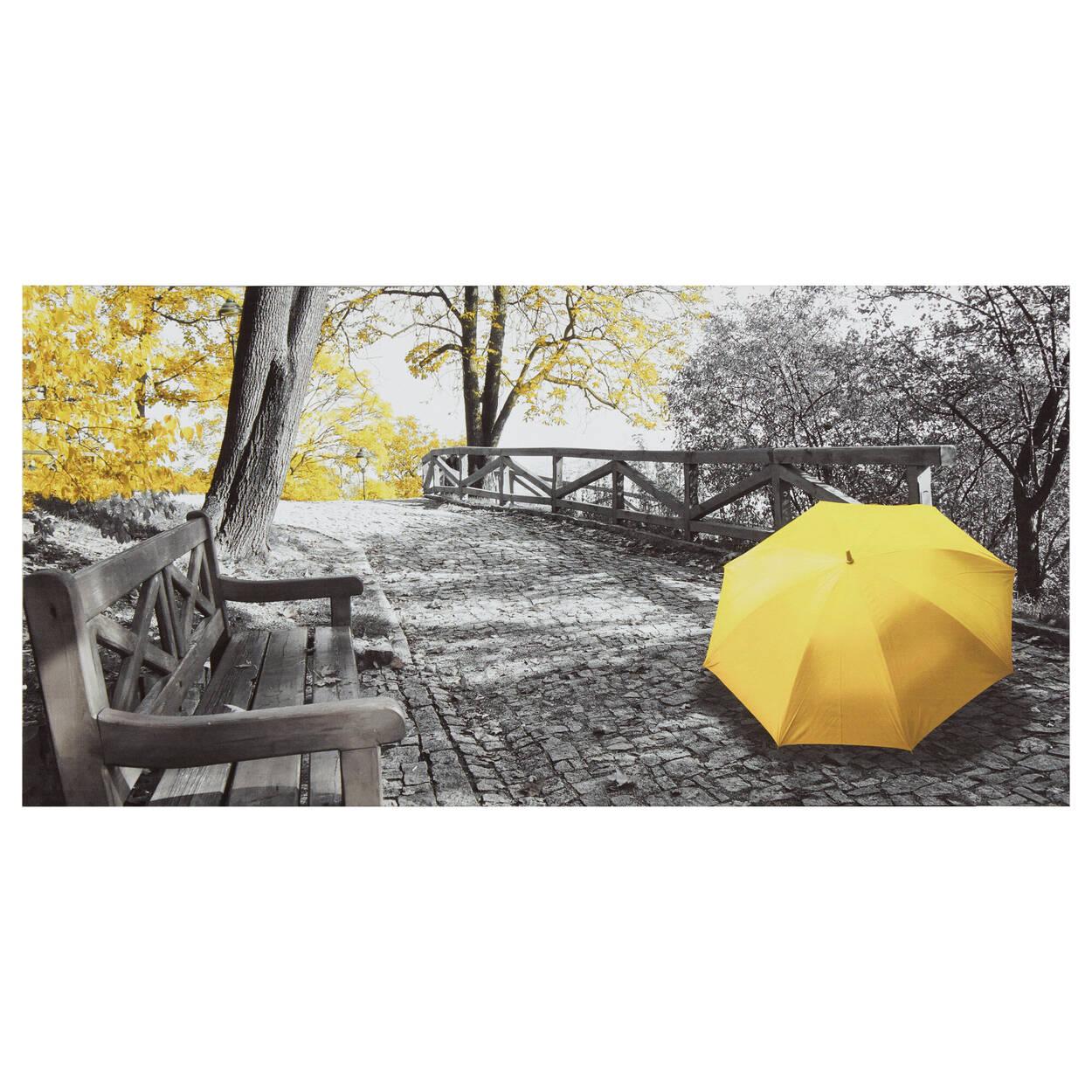 Tableau imprimé d'un parapluie dans un parc