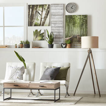 Bamboo Forest Printed Canvas