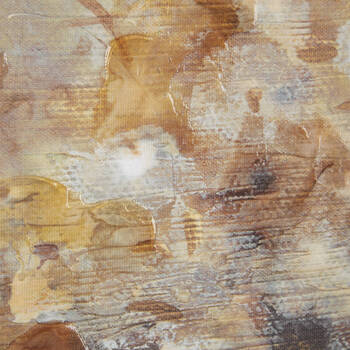 Gel-Embellished Abstract Canvas
