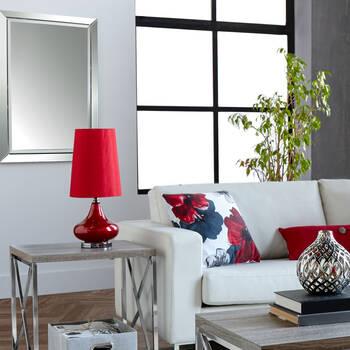 Glass & Silk Table Lamp