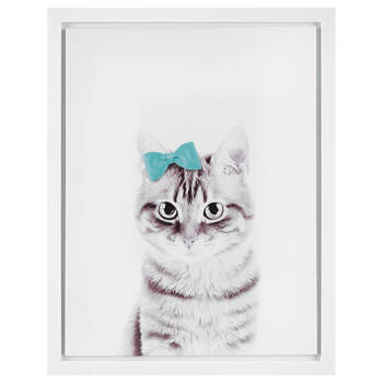 Cat with Bow Canvas