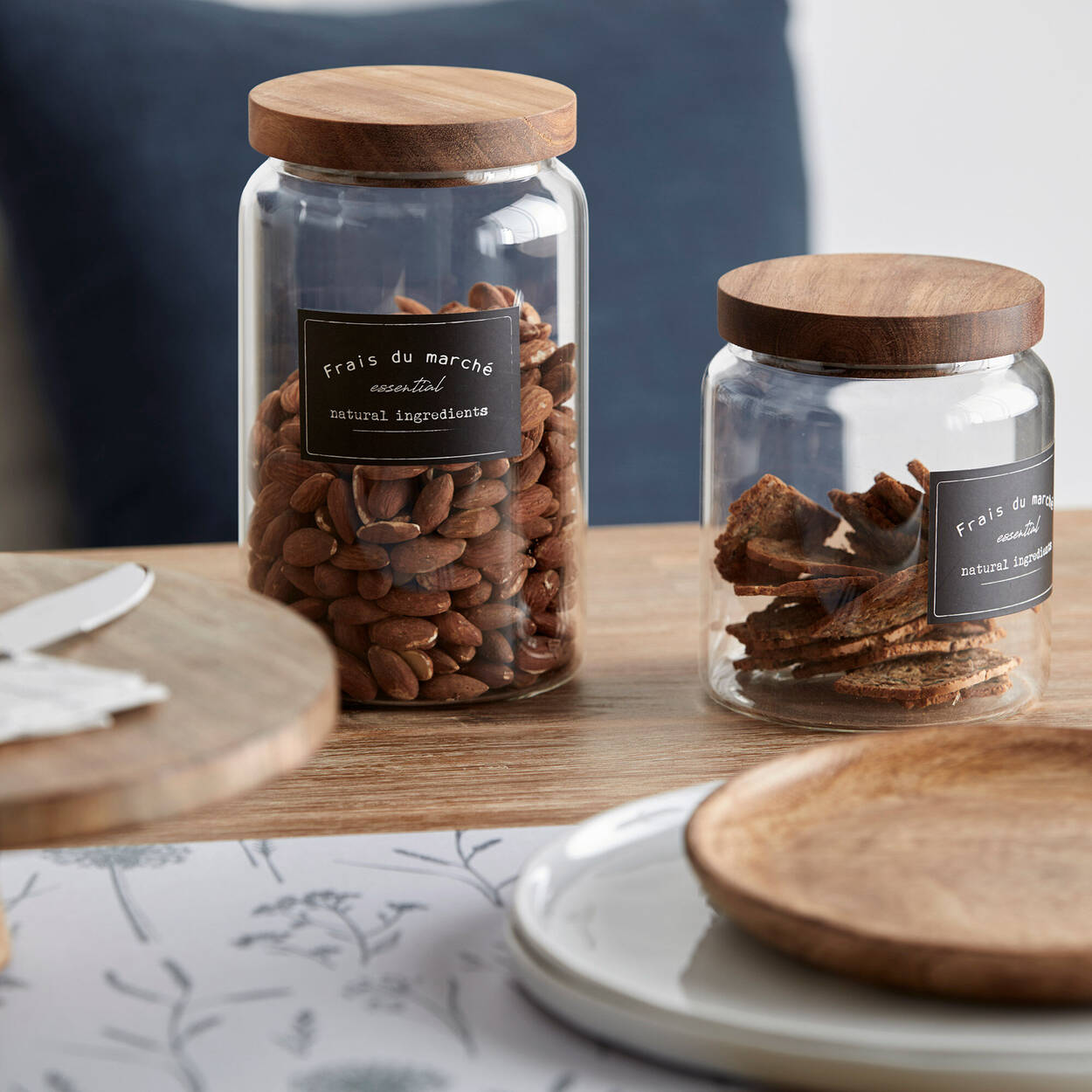Small Glass Jar with Wooden Lid