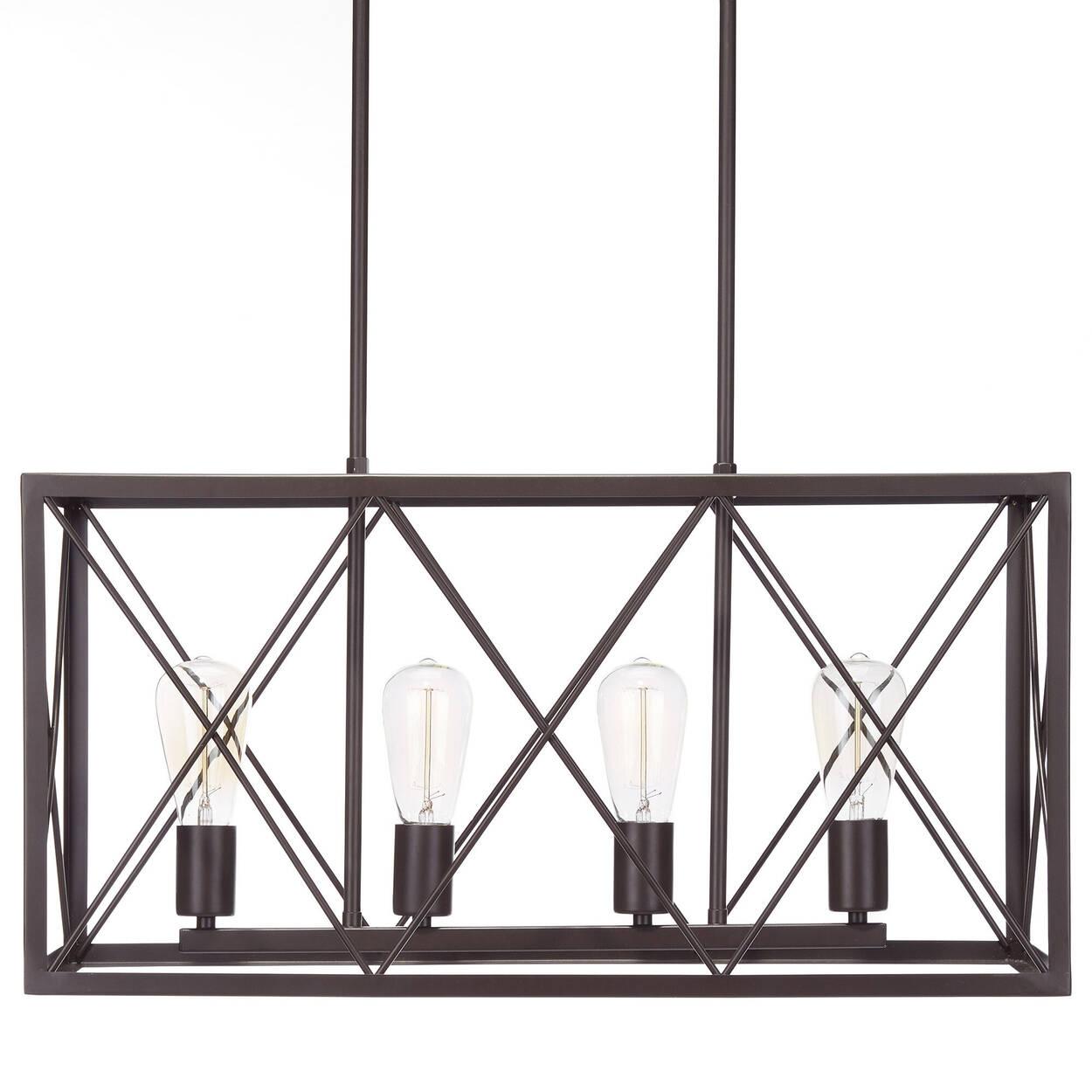 Lampe suspendue géométrique en tige de métal