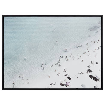 Beach Day Framed Printed Canvas