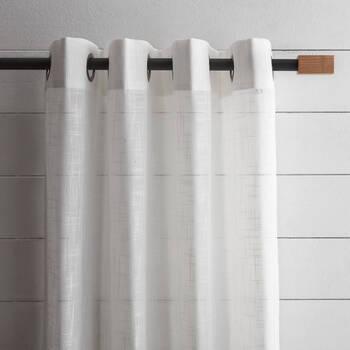 Rectangular Wood Curtain Rod Set - Diameter 13/16 mm