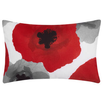"Poppy Water-Repellent Decorative Lumbar Pillow 18"" X 18"""